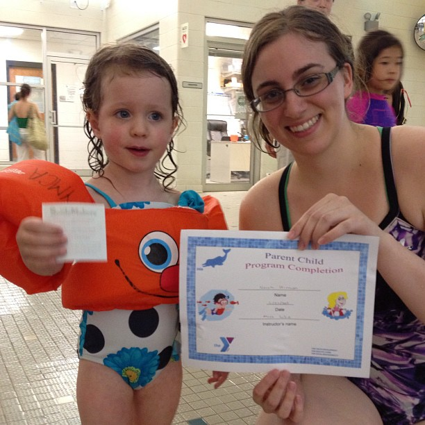 #norah finished her swim lessons last night.