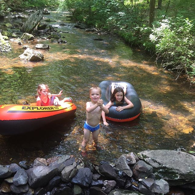 Playing in the creek #hinsoncampathon2016 #hinsonco