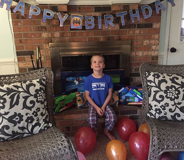 This little guy had the best time celebrating his 5th birthday today with the family. Can't believe he is so big! He brings so much life and sweetness to our family. We love you, Liam! #liamjoseph #hinsonco #ourlifeonpurpose #dontjudgeme #birthdaycereal #allthesugaronyourbirthday #weeathealthyfoodmostofthetime