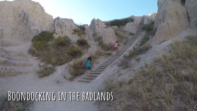 Our latest video is up on Hinson Co. Link in bio! •  Badlands National Park, first time boondocking (camping with no electric, water, or sewer), and visit to Wall Drug! •  www.hinson.co/latest•