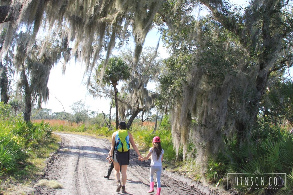 Hiking to Deep Hole where there were tons of Alligators
